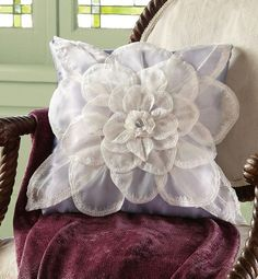 sheer flower pillow. Looks simple to make.