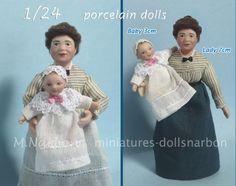 Half inch scale porcelain dolls Lady is 7cm tall http://dollsnarbon-cat.blogspot.com.es/p/124-catalogo-munecos-half-scale.html