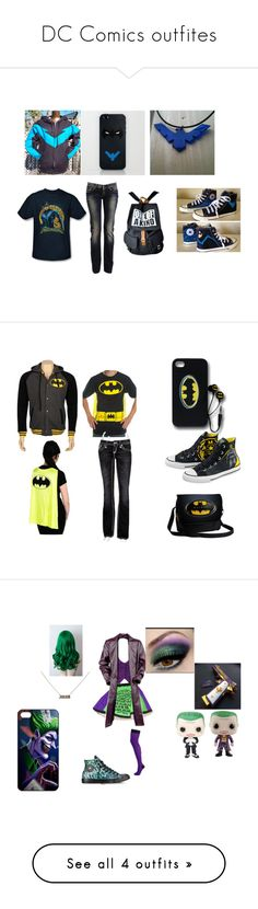 """""""DC Comics outfites"""" by lunatheumbreon on Polyvore featuring Dolce&Gabbana, Converse, Rock Revival, Pamela Mann, Samsung and COS"""