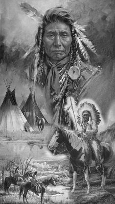 Native Americans tattoo by orfanto - Indianer Gemälde - Native American Drawing, Native American Tattoos, Native American Cherokee, Native American Warrior, Native American Paintings, Native American Pictures, Native American Tribes, Native American History, Indian Chief Tattoo