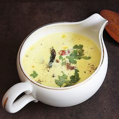 Moru Curry & Moru Kachiyathu & Spiced Buttermilk Curry A complete comfort food for many Kerallites , easy quick and healthy. Curry Recipes, Veggie Recipes, Indian Food Recipes, Vegetarian Recipes, Cooking Recipes, Kerala Food, Mouth Watering Food, South Indian Food, Asian Cooking