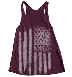Visit kpopcity.net for the biggest discount fashion store worldwide! Over thousands of styles to choose from AMERICAN FLAG Women Tank Top American Apparel Triblend Racerback Tank Top Hand Screen Printed $18