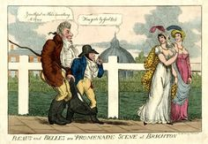 Beaus and Belles or a promenade scene at Brighton, April 5, 1810. British Museum 1876,1014.16