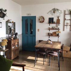 Purinさんの、部屋全体,漆喰壁,腰壁,ドアリメイク,Minca465,ドア塗り替え,のお部屋写真
