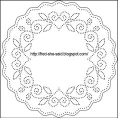 Fred, She Said - Digital Design & Papercrafting Goodness: Paper Pricking Patterns