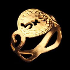 Kabbalah small spiral gold ring - size 7  By Kelka Jewelry