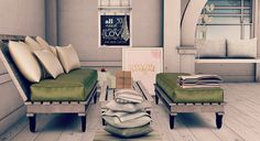 Second Life Snapshots: Stop existing and start living Living Room Sets, Cushions On Sofa, Second Life, Decorative Items, Live, Table, Furniture, Living Room Decor, Living Room Setup