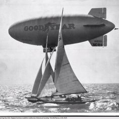 Who doesn't love the Goodyear Blimp? The Goodyear Blimp may be the best known and most loved airship in history. Goodyear Blimp, Under The Shadow, Vintage Airplanes, Vintage Photographs, Vintage Photos, Ballon, Historical Society, History Facts, Led Zeppelin