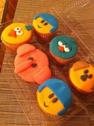 Pocoyo, Elly, Pato and small bird cupcakes ☺ Cupcake Cookies, Cupcakes, August Birthday, Marshmallow Pops, Ideas Para Fiestas, Unique Cakes, 1st Birthdays, Birthday Parties, Birthday Ideas