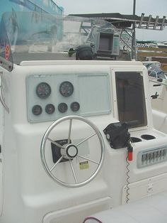 new dash and relocation of new switch panel | Proline Center Console Boat | Center console boats ...