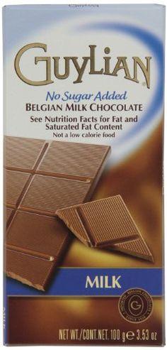Guylian Milk Chocolate No-Sugar Added Bar, 3.5-Ounce Boxes (Pack of 6) GuyLian http://www.amazon.com/dp/B004LS4POY/ref=cm_sw_r_pi_dp_33v.wb0G12S3C