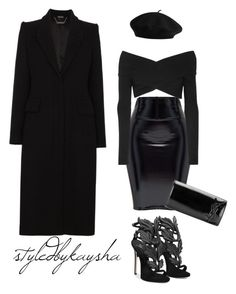 """""""BLACK PANTHER STYLE"""" by styledbykaysha on Polyvore featuring Alexander McQueen, Giuseppe Zanotti, Opening Ceremony and Yves Saint Laurent"""