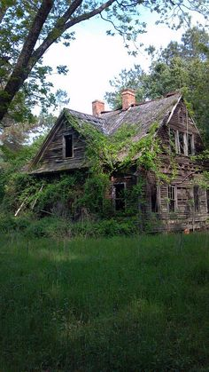 I found this abandoned old house in the forest near my house [960x540] [OC] by logwater on Flickr.