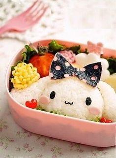 cinnamon bento ♥ so Kawaii Bento! Japanese Food Art, Japanese Lunch Box, Japanese Dishes, Cute Food, Good Food, Yummy Food, Yummy Lunch, Bento Kawaii, Bento Kids