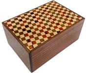4 Sun 12 Steps Inchimatsu and Natural Wood - Japanese Puzzle Box
