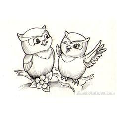 Tattoos I wanna do peachy-cute-owl-tattoo-design. Bird Drawings, Art Drawings Sketches, Easy Drawings, Colouring Pages, Adult Coloring Pages, Coloring Books, Cute Owl Tattoo, Owl Tattoos, Owl Tattoo Design