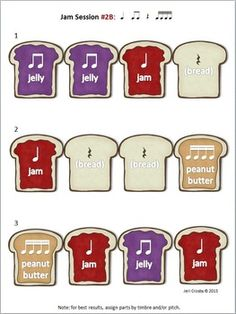 Peanut Butter Jam Sessions for Drum Circle, Rhythm Band, o