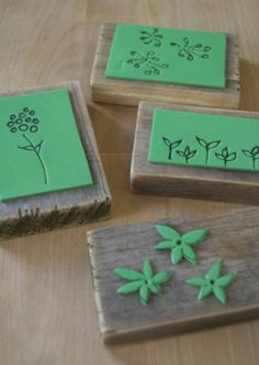 homemade stamps...I  have so many sheets of this junk laying around wondering what to use it for!