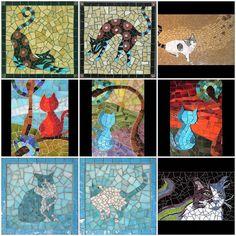 My Mosaic Cats! by cbmosaics - Christine Brallier, via Flickr