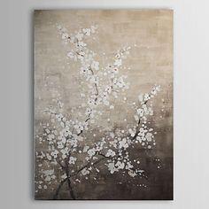 Hand geschilderd olieverfschilderij Bloemen Wintersweet met gestrekte frame 1310-FL1054 – EUR € 81.81