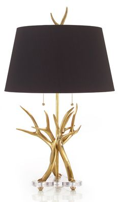 Table Lamps, Elegant Gold Antler Lamp, one of over 3,000 limited production interior design inspirations inc, furniture, lighting, mirrors, tabletop accents and gift ideas to enjoy repin and share at InStyle Decor Beverly Hills Hollywood Luxury Home Decor enjoy & happy pinning