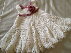 Baby girl dress handmade crochet very cute  by Creations23baby, $35.00