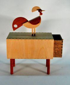 """ROOSTER BOX"" Box with drawer  Designer: Virgínio Moutinho"
