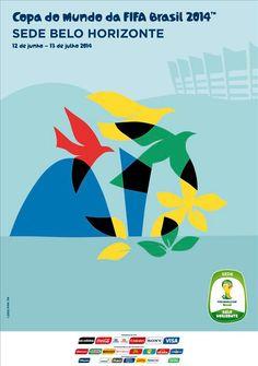 Os cartazes das 12 cidades sede da Copa do Mundo de 2014 - Belo Horizonte