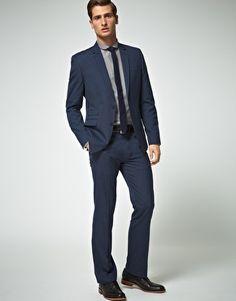 ASOS Slim Fit Blue Suit