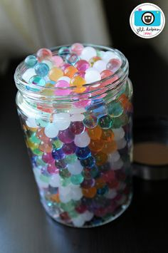 water marbles. Start the size of BBs then add water and watch them grow. Only a couple bucks on amazon.