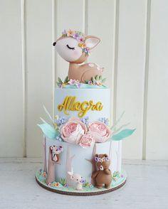 Extraordinary Baby Shower Cakes - Kuchen und Deco - Baby Tips Baby Cakes, Baby Shower Cakes, Gateau Baby Shower, Fiesta Baby Shower, Baby Boy Shower, Cupcake Cakes, Baby Girl Shower Themes, Girl Themes, Baby Shower Decorations