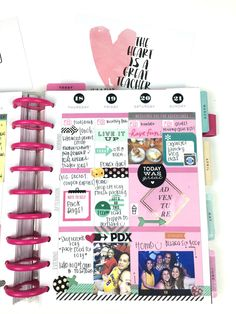 a busy birthday week in The Happy Planner™ of mambi Design Team member Chantal Stevens Smash Book Planner, Planner Tips, Planner Layout, Life Planner, Happy Planner, Best Planners, Day Planners, Washi Tape Planner, Planner Stickers