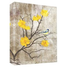 Create country-chic ambience with this eye-catching canvas giclee print, featuring a bird perched on a blossoming branch. Showcase it in your parlor for a se...
