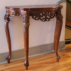 Check Prices Windsor Hand Carved Wood Indoor Console Table By International Caravan Accent Furniture, Dining Furniture, Home Furniture, Wedding Furniture, Chinese Furniture, Furniture Stores, Cheap Furniture, Furniture Design, Half Moon Console Table