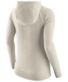 111828cdcb1a Nike Women s Lsu Tigers Gym Vintage Full-Zip Hoodie - White M