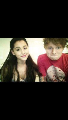 Ariana met Ed Sheeran!