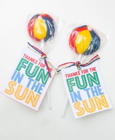Beach Ball Party Favors & Free Printable by Lindi Haws of Love The Day