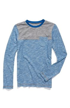 Tucker + Tate Yoke Stripe Long Sleeve T-Shirt (Big Boys) available at #Nordstrom