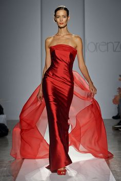 Lorenzo Riva at Milan Fashion Week Spring 2012 - Runway Photos Red Fashion, Look Fashion, Couture Fashion, Runway Fashion, Fashion Dresses, Milan Fashion, Fashion Women, Fashion Ideas, Stunning Dresses
