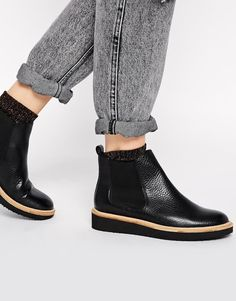 ASOS+ABOUT+TIME+Leather+Chelsea+Ankle+Boots