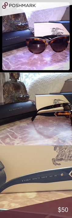 Burberry Havana sunglasses Burberry tortoise sunglasses. Like new condition, no scratches. Comes with box, case, and cleaning cloth. Burberry Accessories Sunglasses