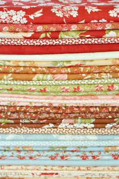 Fabricstack from Fig Tree Quilts by Moda coming Oct.2012 Butterscotch and Rose