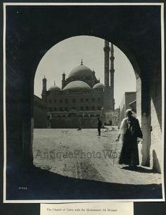Mohammed Ali Mosque citadel Cairo antique art photo by ArtNotch on Etsy https://www.etsy.com/listing/243977361/mohammed-ali-mosque-citadel-cairo