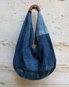Tasche aus Jeansstoffresten