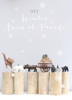DIY Winter Animal Parade