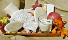 Create a #fall exfoliation station! This features 7 #retail products on one tray-small space-big sales!