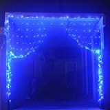 AL 10'x 10' 300 LED Decoration Curtain Lights Christmas Xmas Wedding Party Home Icicle Fairy Valentine's Day(Blue) christmas deals week