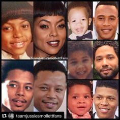 Then & now Empire Cast, Most Popular Tv Shows, Taraji P Henson, Jussie Smollett, Celebrities Then And Now, Handsome Black Men, Friend Goals, Black History Month, Movies And Tv Shows