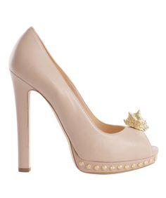 Alexander McQueen- FLESH SHELL SKULL PEEP-TOE PUMP    I dream of these shoes