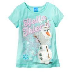 """Disney Frozen """"Hello Friend"""" Olaf Tee - Girls 4-6x #Kohls"""